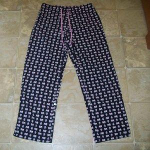 VERA BRADLEY Pink Elephant LOUNGE PJ PANTS Small